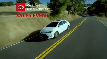 Toyota Certified Used Vehicles Sales Event TV Spot, 'Best Resale Value' [T2] - Thumbnail 3