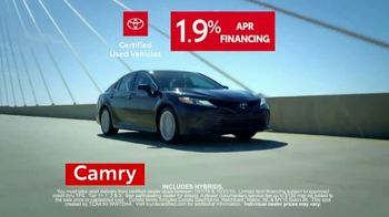 Toyota Certified Used Vehicles Sales Event TV Spot, 'Best Resale Value' [T2] - Thumbnail 4