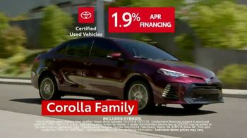 Toyota Certified Used Vehicles Sales Event TV Spot, 'Best Resale Value' [T2] - Thumbnail 6