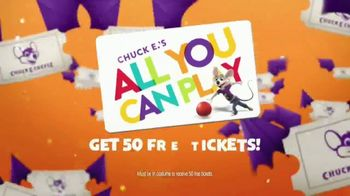 Chuck E. Cheese All You Can Play TV Spot, '50 Free Tickets' - Thumbnail 8