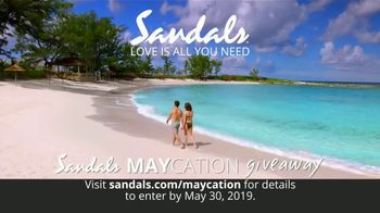 Sandals Resorts Maycation Giveaway TV Spot, 'Teachers, Nurses, Military and Mothers' - Thumbnail 5