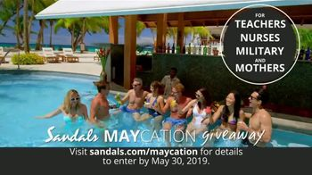 Sandals Resorts Maycation Giveaway TV Spot, 'Teachers, Nurses, Military and Mothers' - Thumbnail 1