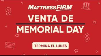 Mattress Firm Venta de Memorial Day TV Spot, 'Colchón queen y almohada Purple' [Spanish] - Thumbnail 1