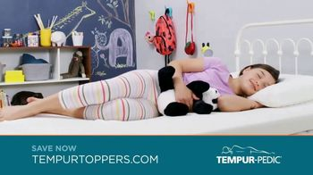 Tempur-Pedic Toppers TV Spot, \'Conforms to Your Body\'