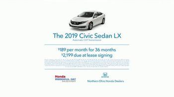 Honda Memorial Day Sales Event TV Spot, '2019 Civic' [T2] - Thumbnail 8