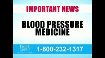 Davis & Crump, P.C. TV Spot, 'Blood Pressure Medicine' - Thumbnail 1