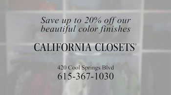 California Closets TV Spot, 'Downsize: Save 20 Percent' - Thumbnail 7