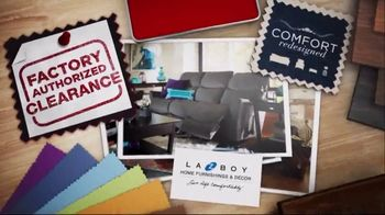 La-Z-Boy Factory Authorized Clearance TV Spot, 'Floor Samples & Closeouts'