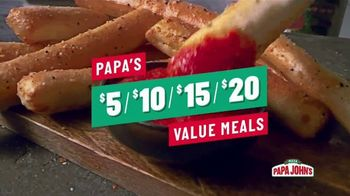 Papa John's Value Meals TV Spot, 'The Meal You Need at the Price You Want'