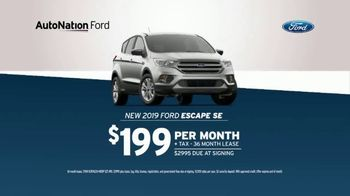 AutoNation 72 Hour Flash Sale TV Spot, 'Saving End In a Flash: 2019 Ford Escape SE' - Thumbnail 3