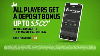DraftKings Sportsbook TV Spot, 'Keep It 100: Deposit Bonus' - Thumbnail 3