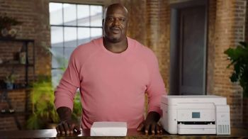 Epson EcoTank TV Spot, 'Comes With Lots of Ink So You Can Print Lots of Pages' Ft. Shaquille O'Neal - Thumbnail 1