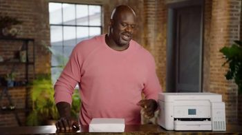 Epson EcoTank TV Spot, 'Comes With Lots of Ink So You Can Print Lots of Pages' Ft. Shaquille O'Neal - Thumbnail 2