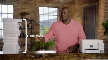 Epson EcoTank TV Spot, 'Comes With Lots of Ink So You Can Print Lots of Pages' Ft. Shaquille O'Neal - 841 commercial airings