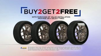National Tire & Battery Labor Day Savings TV Spot, 'Two Tires Free, Mail-in Rebate and No Interest' - Thumbnail 4