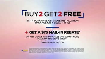 National Tire & Battery Labor Day Savings TV Spot, 'Two Tires Free, Mail-in Rebate and No Interest' - Thumbnail 8