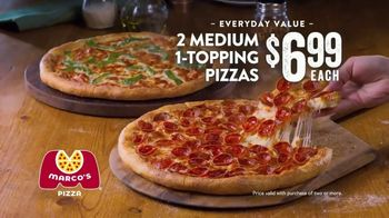 Marco's Pizza TV Spot, 'America's Most Loved Pizza: Two Medium One-Topping Pizzas' - Thumbnail 8