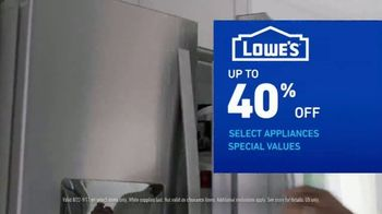 Lowe's Labor Day Savings TV Spot, 'Select Appliances and Valspar Paint' - Thumbnail 5