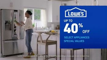 Lowe's Labor Day Savings TV Spot, 'Select Appliances and Valspar Paint' - Thumbnail 6