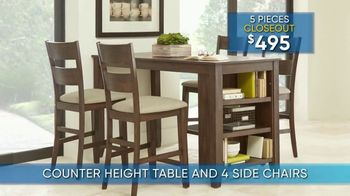 Rooms to Go Summer Sale and Clearance TV Spot, '5-Piece Dining Sets' - Thumbnail 3