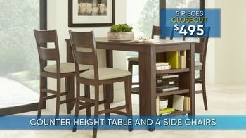 Rooms to Go Summer Sale and Clearance TV Spot, '5-Piece Dining Sets' - Thumbnail 4