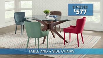 Rooms to Go Summer Sale and Clearance TV Spot, '5-Piece Dining Sets' - Thumbnail 5
