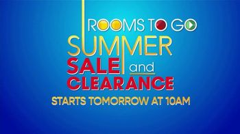 Rooms to Go Summer Sale and Clearance TV Spot, 'Big Reductions' - Thumbnail 1