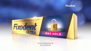 Fixodent Ultra Max Hold TV Spot, 'Lock Your Dentures' - Thumbnail 6