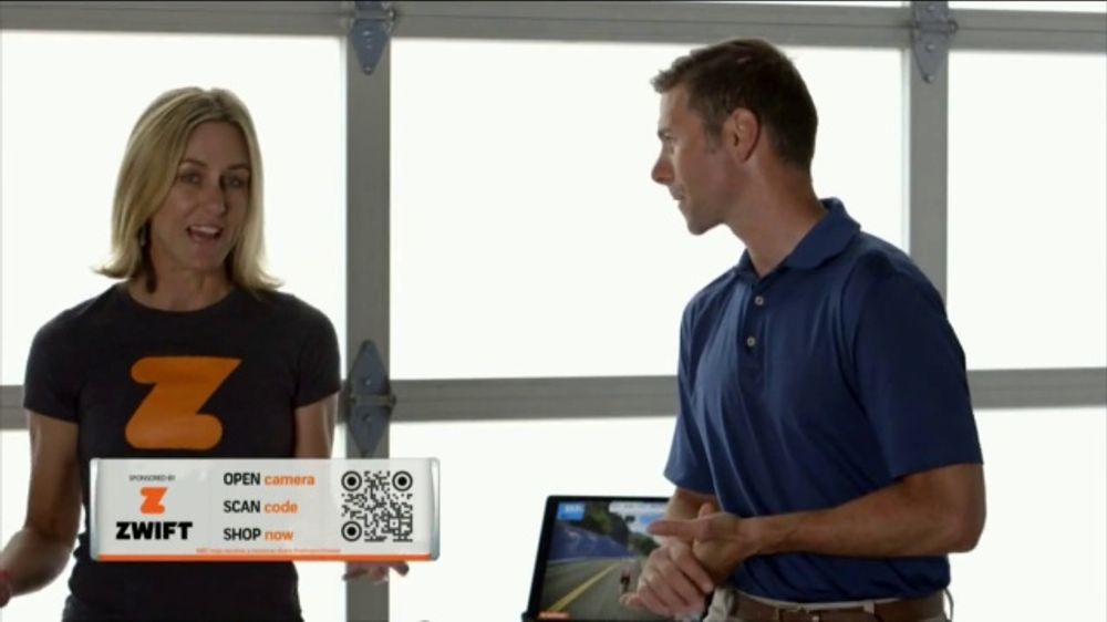 Zwift TV Commercial, 'Scan the Code' Feat  Robbie Ventura and Kristin  Armstrong - Video
