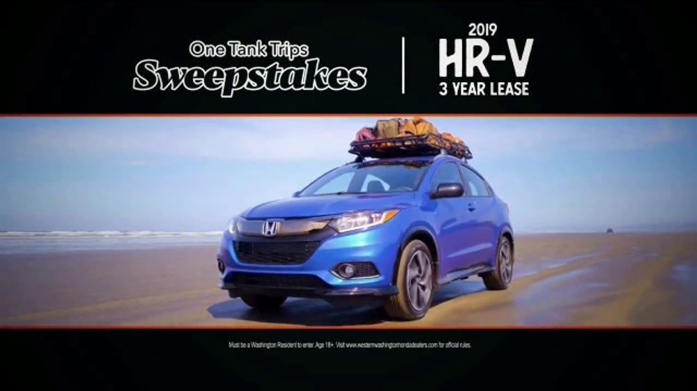 Honda Summer Spectacular Event TV Commercial, 'One Tank Trips Sweepstakes:  Unleash Your Wild Side' [T2] - Video