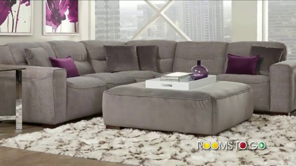 the best attitude c898a 66e5d Rooms to Go Summer Sale and Clearance TV Commercial, 'Modular Sectional &  Ottoman' - Video