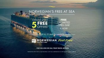 Norwegian Cruise Line Free at Sea TV Spot, 'Five Free: From $199' Song by Andy Grammer - Thumbnail 9