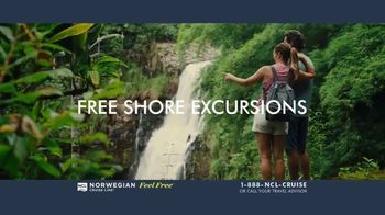 Norwegian Cruise Line Free at Sea TV Spot, 'Five Free: From $199' Song by Andy Grammer - Thumbnail 4