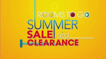 Rooms to Go Summer Sale and Clearance TV Spot, 'Sofa, Loveseat or Sectional' - Thumbnail 1