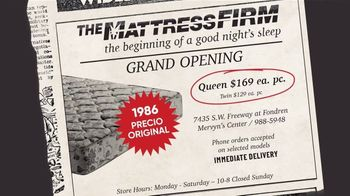 Mattress Firm Evento Flashback TV Spot, 'El año que fuimos fundados' [Spanish] - Thumbnail 3