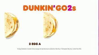 Dunkin' Donuts Go2s TV Spot, 'Sandwiches, Bagels or Mix and Match' - Thumbnail 4