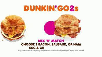 Dunkin' Donuts Go2s TV Spot, 'Sandwiches, Bagels or Mix and Match' - Thumbnail 7
