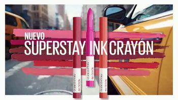 Maybelline New York SuperStay Ink Crayon TV Spot, 'Punta de precisión' [Spanish] - Thumbnail 4