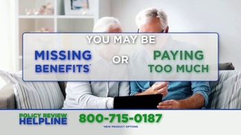 Policy Review Helpline TV Spot, 'Additional Benefits' - Thumbnail 1