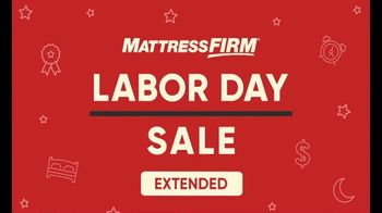 Mattress Firm Labor Day Sale TV Spot, 'Extended: Last Chance' - Thumbnail 1