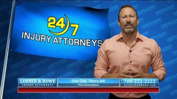 Lerner and Rowe Injury Attorneys TV Spot, 'Car Wrecks Don't Keep Business Hours + Roundup Cases' - Thumbnail 9