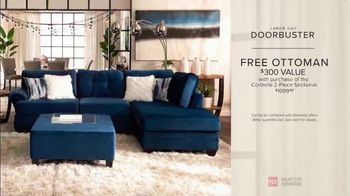 Value City Furniture Labor Day Sale TV Spot, 'Doorbusters Extended: Free Ottoman' - Thumbnail 8