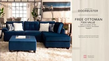 Value City Furniture Labor Day Sale TV Spot, 'Doorbusters Extended: Free Ottoman' - Thumbnail 9