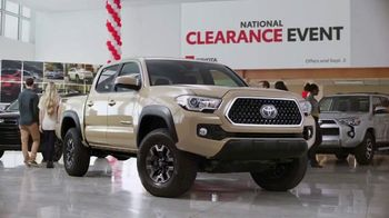 Toyota National Clearance Event TV Spot, 'Most Popular Models' [T2] - Thumbnail 3