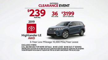 Toyota National Clearance Event TV Spot, 'Most Popular Models' [T2] - Thumbnail 6