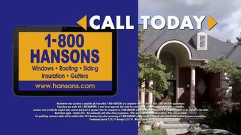 1-800-HANSONS Hottest Roofing Sale of the Summer TV Spot, 'Hail Resistance Roofing' - Thumbnail 4