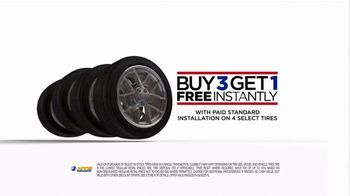 National Tire & Battery TV Spot, 'Buy Three, Get One: Store Card'