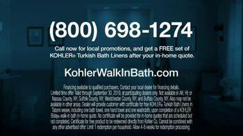 Kohler Walk-In Bath TV Spot, 'Calling Kohler: Free Turkish Bath Linens' - Thumbnail 9
