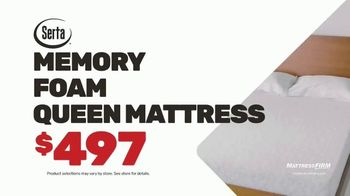 Mattress Firm Semi-Annual Sale TV Spot, 'Serta Memory Foam Queen Mattress' - Thumbnail 7