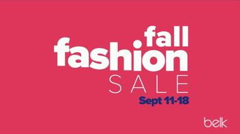 Belk Fall Fashion Sale TV Spot, 'Designer Shoes and Handbags'